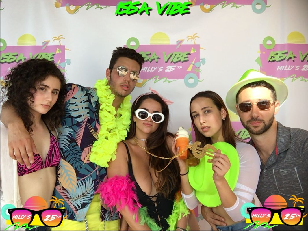 Miami, FL Photo Booth Rental GIF 90s Party beach bikini social Photo Booth