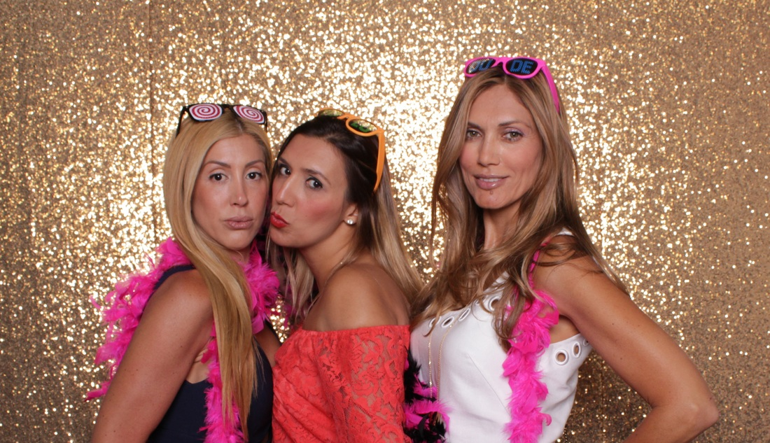 Gold Sequin Photo Booth Rental Miami, FL