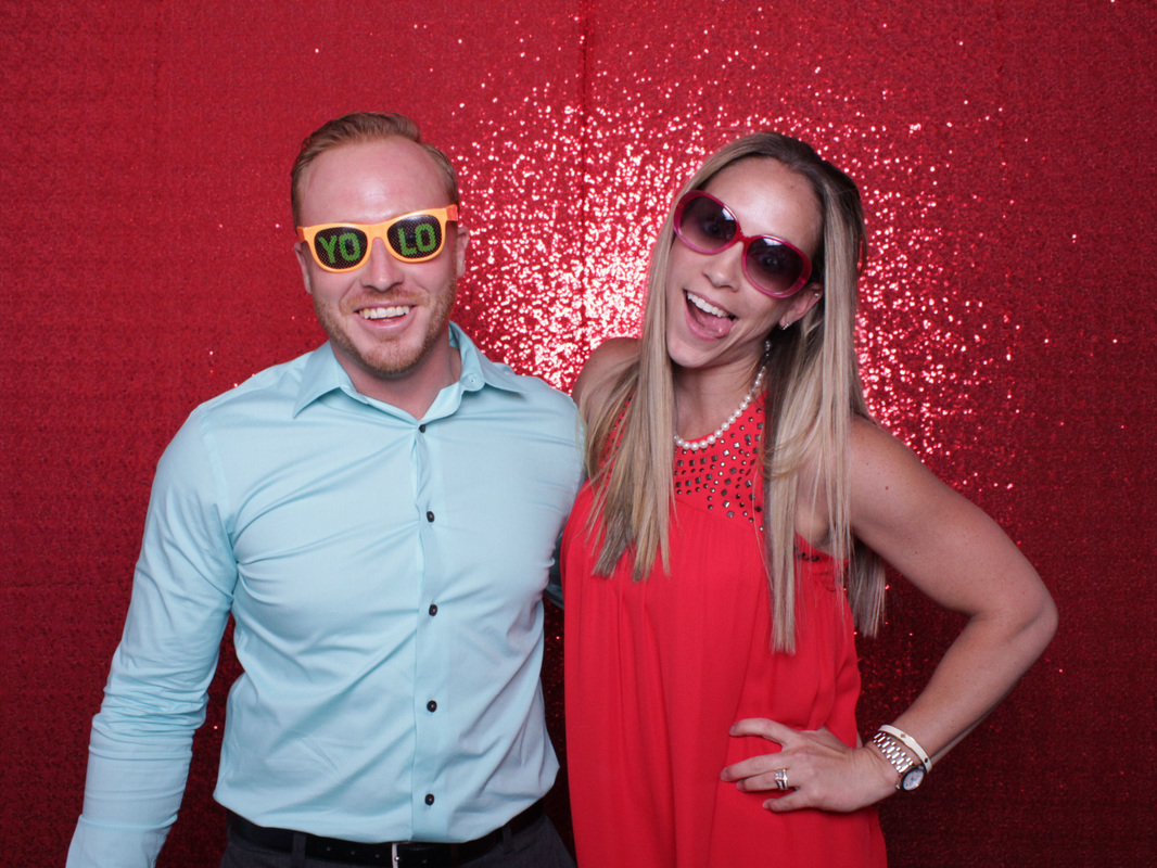 Funny Couple in a Photo Booth